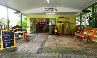 Montville Woods Gallery shopping Sunshine Coast, Queensland